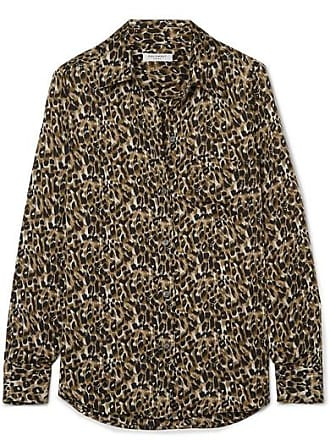 Equipment Brett Leopard-print Satin Shirt - Leopard print