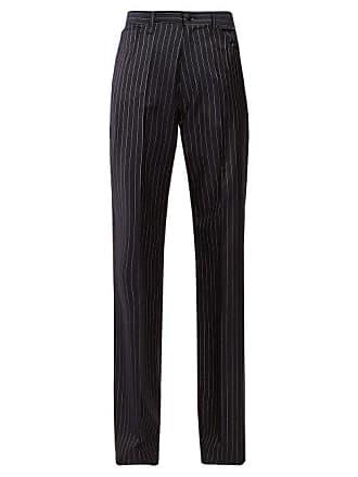 0579c9048806 Balenciaga High Rise Striped Trousers - Womens - Navy Stripe