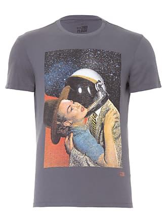 Ellus CAMISETA MASCULINA BASIC SPACE ROMANCE - CINZA