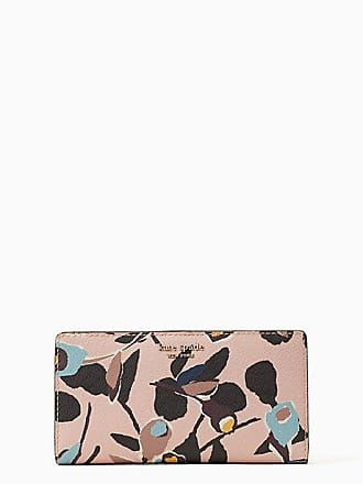 Kate Spade New York Cameron Paper Rose Large Slim Bifold Wallet, Pink