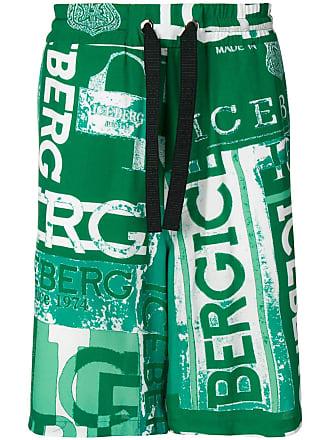 Iceberg logo print track shorts - Green