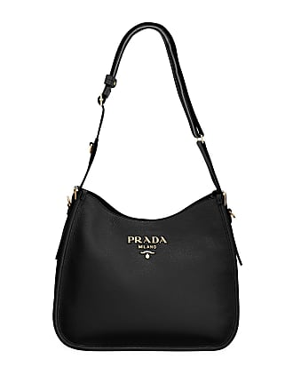1d176d9a9 Prada Daino Calf Leather Hobo Bag with Crossbody Strap