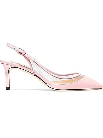 Jimmy Choo London Erin 60 Pvc And Leather Slingback Pumps - Baby pink