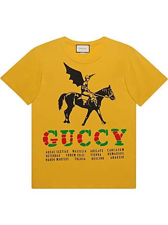 f8631400bdc Gucci Oversize t-shirt with winged jockey - Yellow