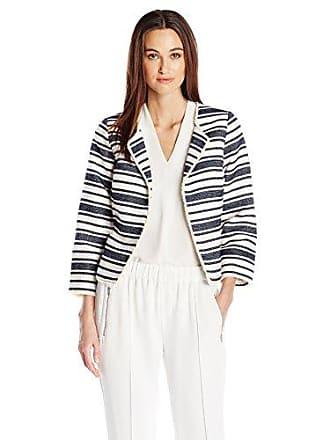 Kensie Womens Upholstery Stripe Jacket, Darkest Navy Combo XS