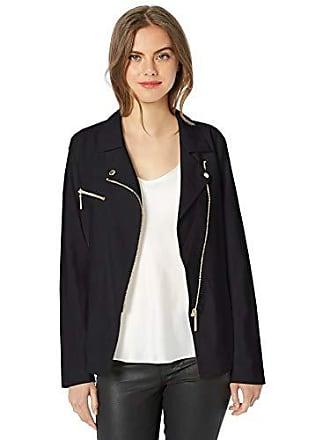 Nicole Miller Womens Draped Jacket, black-00101, 2