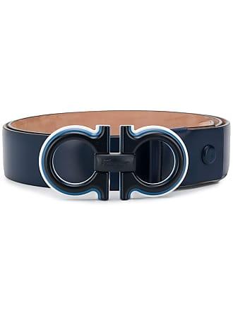 Salvatore Ferragamo double Gancini belt - Blue