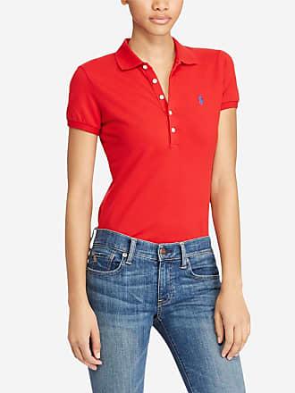 603c505f2a5438 Polo Ralph Lauren Polo à manches courtes coton Julie Rouge Polo Ralph Lauren