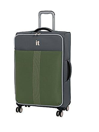 IT Luggage 27.4 Filament 8 Wheel Lightweight Expandable Spinner, Steel Gray/Loden Green