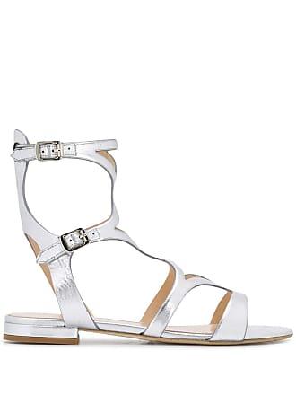 The Seller flat metallic sandals - Prateado