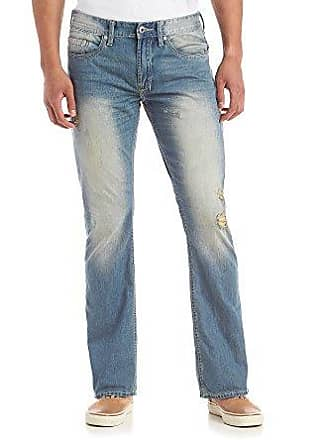2039c5b2102 Buffalo David Bitton Mens King Slim Fit Bootcut Jean in Sanded and Dirty  Wash, Distressed