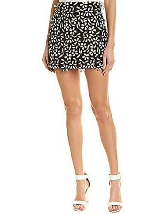 12b819325d French Connection Womens Fulaga Floral Lace Overlay Mini Skirt