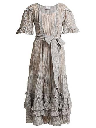 facbe4e478 Lisa Marie Fernandez January Striped Seersucker Dress - Womens - Black  Stripe
