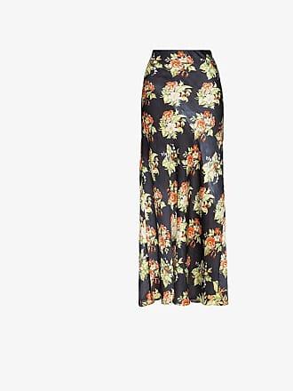 Paco Rabanne Floral print maxi-skirt