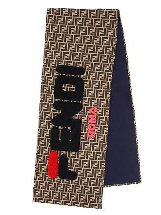 3d5e050e470 Fendi MANIA Écharpe en laine et soie mélangées