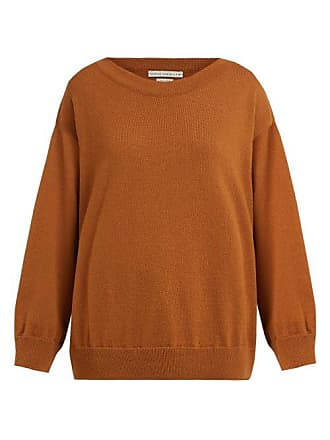Queene and Belle Queene And Belle - Round Neck Cashmere Sweater - Womens - Light Brown