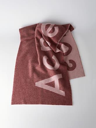 Acne Studios Toronty Logo Pink Logo scarf