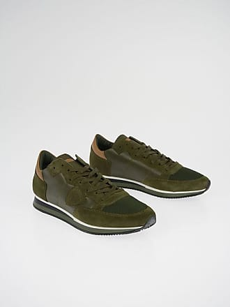 Philippe Model Suede Leather and Fabric TROPEZ Sneakers size 43