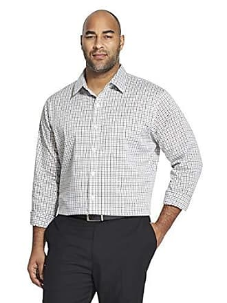 Van Heusen Mens Big and Tall Traveler Stretch Long Sleeve Button Down Blue/White/Purple Shirt, Legacy Bright 1, 2X-Large