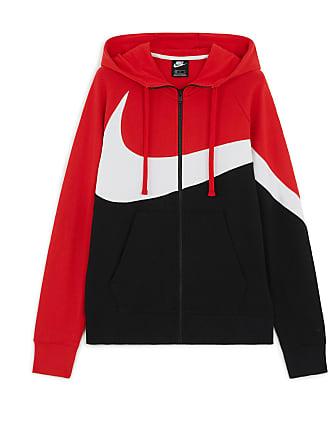 afacb2ede94 Nike BIG SWOOSH FULL ZIP HOODIE NIKE ROUGE NOIR S HOMME NIKE ROUGE NOIR