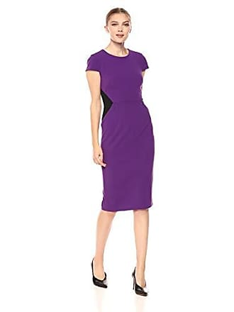 508f3945 Donna Morgan Womens Cap Sleeve Sheath Dress, Bright Purple, 6
