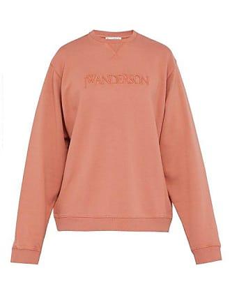 J.W.Anderson Jw Anderson - Logo Embroidered Cotton Sweatshirt - Mens - Pink