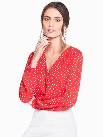 Principessa Camisa Vermelha de Poá Principessa Caterin