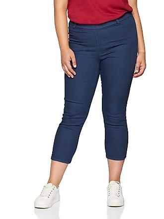 edc723e1bc5 Ulla Popken Womens Plus Size Crop Stretch Jeggings Deep Sea Blue 18 698912  70-44