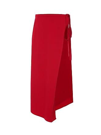 Y / Project Stretch-wool asymmetric midi skirt