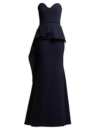 e7e6ead8ef44 Roland Mouret Bond Strapless Wool Crepe Gown - Womens - Navy