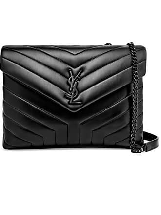 Saint Laurent Loulou Medium Quilted Leather Shoulder Bag - Black