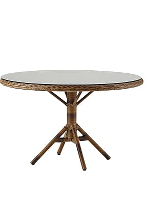 Sika-Design Grace matbord m/ glastopp chestnut, sika-design