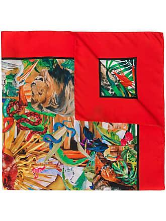 Philipp Plein Lenço Jungle - Vermelho