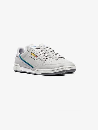 adidas grey Continental 80 leather low top sneakers