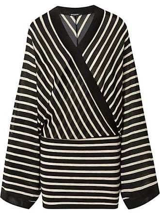 9e0dd92a Balmain Wrap-effect Metallic Striped Stretch-jersey Mini Dress - Black