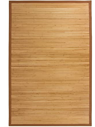 Best Choice Products 5x8ft Bamboo Runner Rug w/ Cotton-Twill Border, Non-Slip Padded Backing