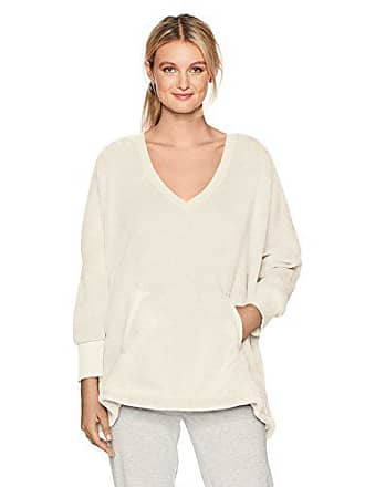 Hue Womens Solid Marshmallow V-Neck Poncho, Off Off White, One Size