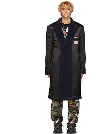465072a6646af VETEMENTS Black and Navy Oversized Inside Out Coat