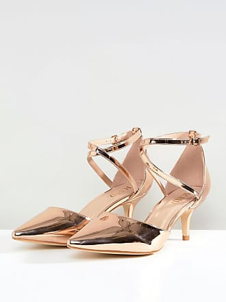 43a8f798fdef Raid RAID Wide Fit Lyla Kitten Heel Court Shoe - Gold