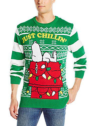Peanuts Mens But First a Nap Sweater, Green, Small