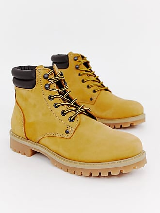 Jack & Jones lace up nubuck boots - Brown