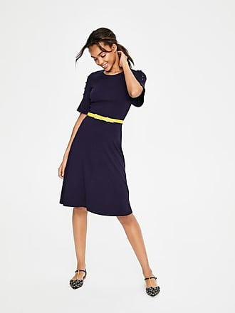 Boden Alexis Jersey Dress Navy Women Boden