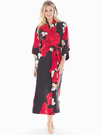 Natori Charmeuse Robe, Black, Size XL, from Soma