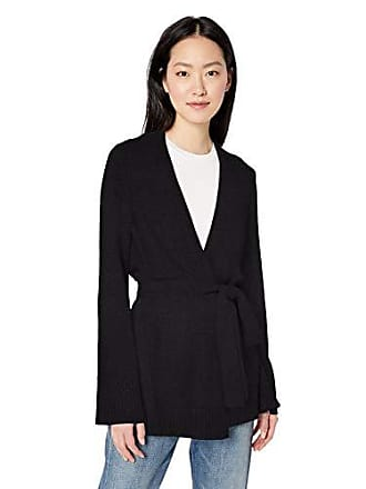 Daily Ritual Womens Long-Line Open-Front Cardigan Sweater, black, Large