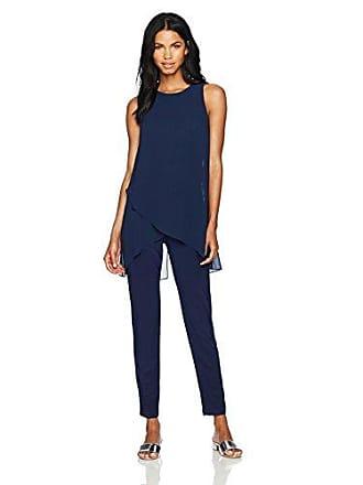 778989ab9fc Tahari by ASL Womens Sleevless Chiffon Jersey Jumpsuit