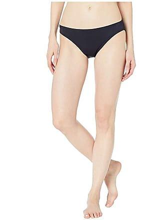 1f548f364ce92 Michael Kors Iconic Solids Logo Ring Peekaboo Bikini Bottoms (Black) Womens  Swimwear