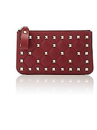 a655a2aba15c Valentino Womens Rockstud Spike Leather Pouch - Red