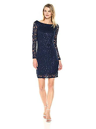 29f04bdd1c5b Marina Rossini Womens All Over Lace Dress with Long Sleeve and Scoop Back