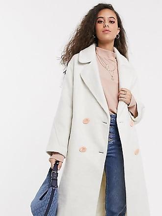 cappotto lungo donna crema