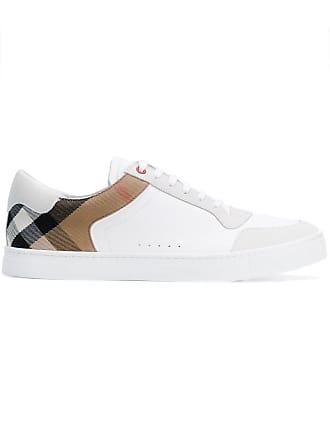 0d549aa73a1 Burberry Leather and House Check Sneakers - White